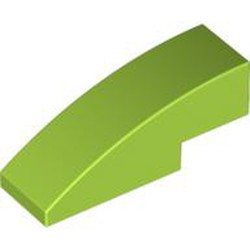 Lime Slope, Curved 3 x 1 - used
