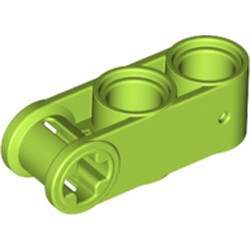Lime Technic, Axle and Pin Connector Perpendicular 3L with 2 Pin Holes