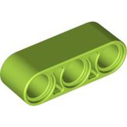 Lime Technic, Liftarm 1 x 3 Thick - new
