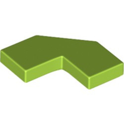 Lime Tile, Modified Facet 2 x 2 Corner with Cut Corner - used