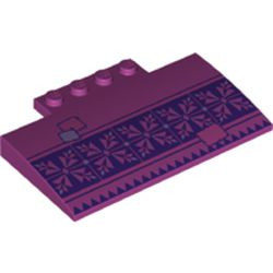 Magenta Slope, Curved 5 x 8 x 2/3 with Dark Purple and Dark Pink Tiles, Lavender and Dark Pink Patches Pattern