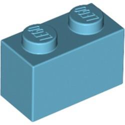 Medium Azure Brick 1 x 2