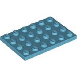 Medium Azure Plate 4 x 6 - used