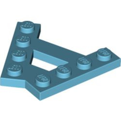 Medium Azure Wedge, Plate A-Shape with 2 Rows of 4 Studs
