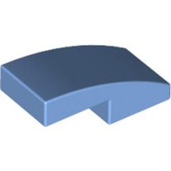 Medium Blue Slope, Curved 2 x 1