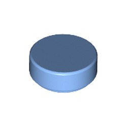 Medium Blue Tile, Round 1 x 1 - new