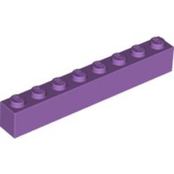 Medium Lavender Brick 1 x 8