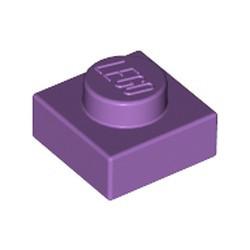 Medium Lavender Plate 1 x 1 - used
