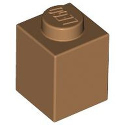 Medium Nougat Brick 1 x 1 - new
