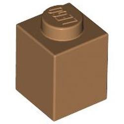 Medium Nougat Brick 1 x 1
