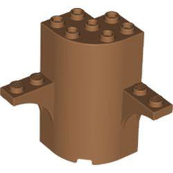 Medium Nougat Cylinder Quarter 3 x 3 x 5 with 2 Arch Tops
