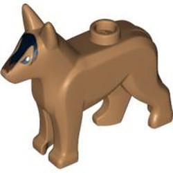 Medium Nougat Dog, Alsatian / German Shepherd with Black Eyes, Nose, Blaze and Dark Brown Muzzle Pattern - new