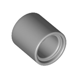 Metallic Silver Technic, Liftarm Thick 1 x 1 - [Formerly Connector Pin Round (1L Spacer) - new]