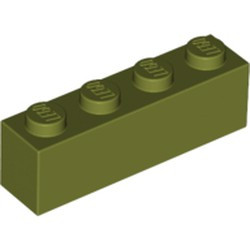 Olive Green Brick 1 x 4 - new