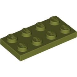 Olive Green Plate 2 x 4
