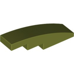 Olive Green Slope, Curved 4 x 1 - used