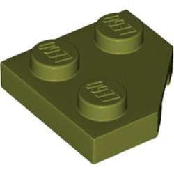 Olive Green Wedge, Plate 2 x 2 Cut Corner
