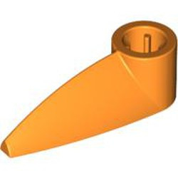 Orange Bionicle 1 x 3 Tooth with Axle Hole