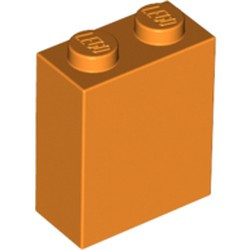 Orange Brick 1 x 2 x 2 with Inside Stud Holder - new