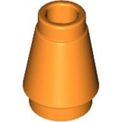 Orange Cone 1 x 1 with Top Groove - used