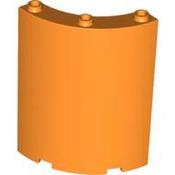 Orange Cylinder Quarter 4 x 4 x 6