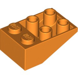 Orange Slope, Inverted 33 3 x 2 with Connections between Studs