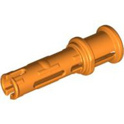 Orange Technic, Pin 3L with Friction Ridges Lengthwise and Stop Bush - used