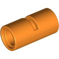 Orange Technic, Pin Connector Round 2L with Slot (Pin Joiner Round) - used