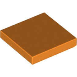 Orange Tile 2 x 2 with Groove - used