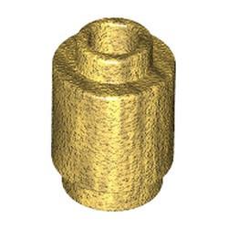 Pearl Gold Brick, Round 1 x 1 Open Stud - new