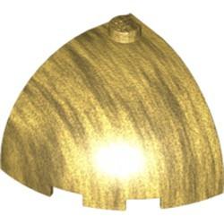 Pearl Gold Brick, Round Corner 3 x 3 x 2 Dome Top - new