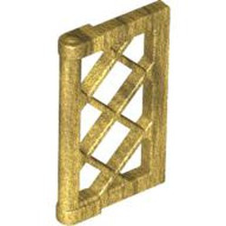 Pearl Gold Pane for Window 1 x 2 x 3 Lattice with Thick Corner Tabs - new