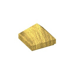 Pearl Gold Slope 45 1 x 1 x 2/3 Quadruple Convex Pyramid - used