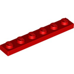 Red Plate 1 x 6 - new
