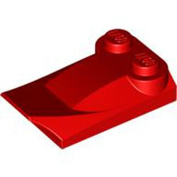 Red Slope, Curved 3 x 2 x 2/3 with Two Studs, Wing End