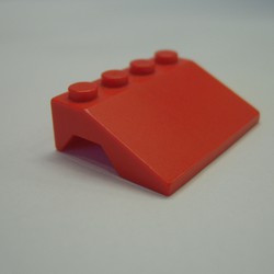 Red Vehicle, Mudguard 3 x 4 Slope