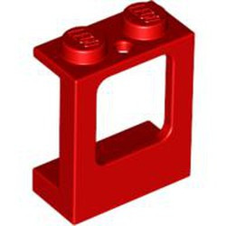 Red Window 1 x 2 x 2 Plane, Single Hole Top and Bottom for Glass - used
