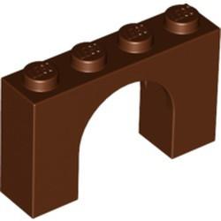 Reddish Brown Brick, Arch 1 x 4 x 2 - new