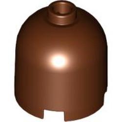 Reddish Brown Brick, Round 2 x 2 x 1 2/3 Dome Top - Blocked Open Stud
