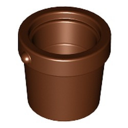Reddish Brown Container, Bucket 1 x 1 x 1 Tapered - used