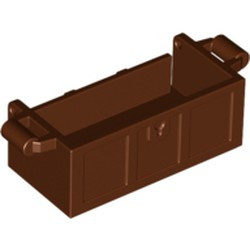Reddish Brown Container, Treasure Chest Bottom - Slots in Back - new