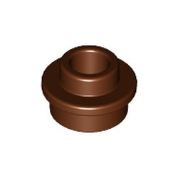 Reddish Brown Plate, Round 1 x 1 with Open Stud - new