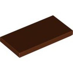 Reddish Brown Tile 2 x 4 - new