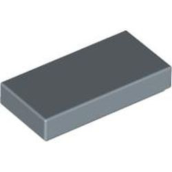 Sand Blue Tile 1 x 2 with Groove