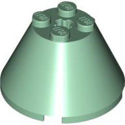 Sand Green Cone 4 x 4 x 2 with Axle Hole