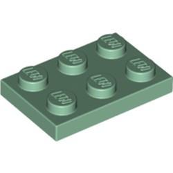 Sand Green Plate 2 x 3