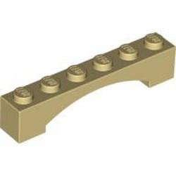 Tan Brick, Arch 1 x 6 Raised Arch - new
