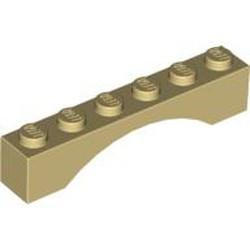 Tan Brick, Arch 1 x 6 - used