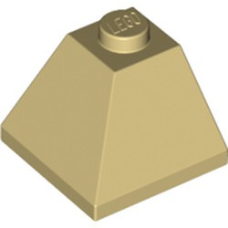 Tan Slope 45 2 x 2 Double Convex Corner - new