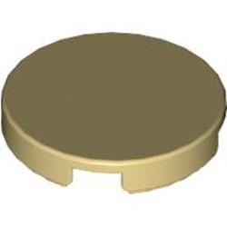 Tan Tile, Round 2 x 2 - used